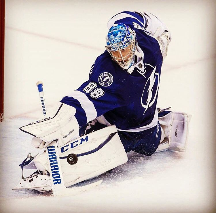 Andrei Vasilveskiy Lightning Hockey Tampa Bay Lightning Hockey Goalie