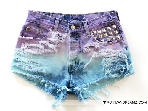 31db99e352 Related image Tie Dye Jeans, Shorts Jeans, Diy Shorts, Ripped Shorts, Blue