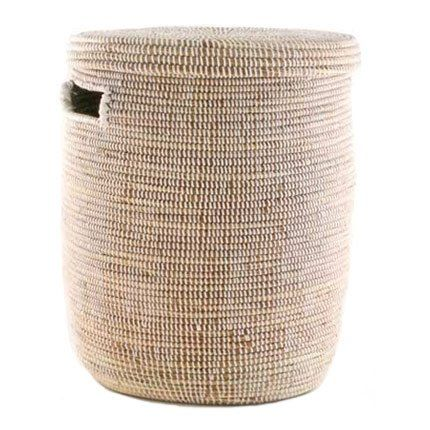 Woven Storage Laundry Basket Flat Lid Connected Fair Trade
