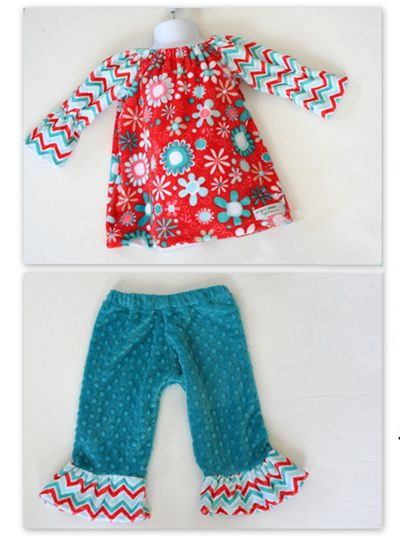 """Download Free Pattern Cuddleâ""""¢ Bouquet Peasant Dress and Ruffle ..."""