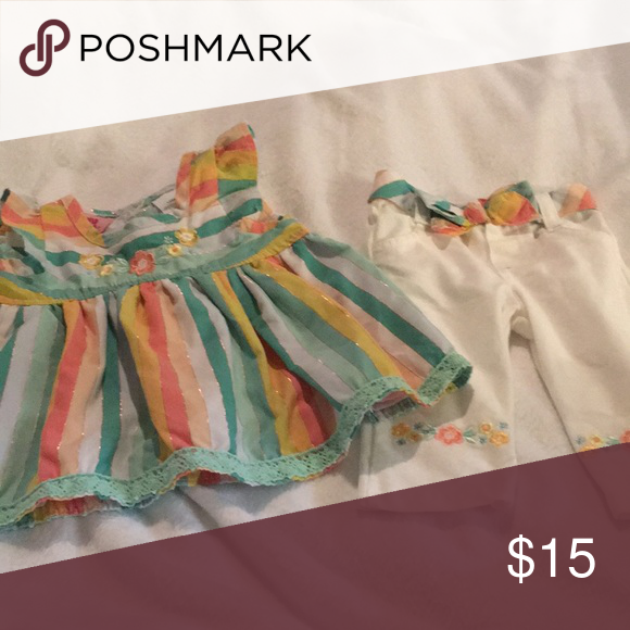 6ddd462bc1a9 Young Hearts adorable 2 pc 12 month girl outfit! Adorable 2pc Young Hearts  12 month