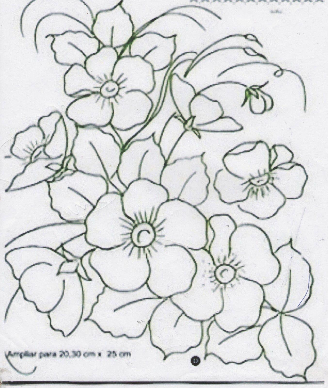 flores silvestres para pintar | Cuadros | Pinterest | Flores ...
