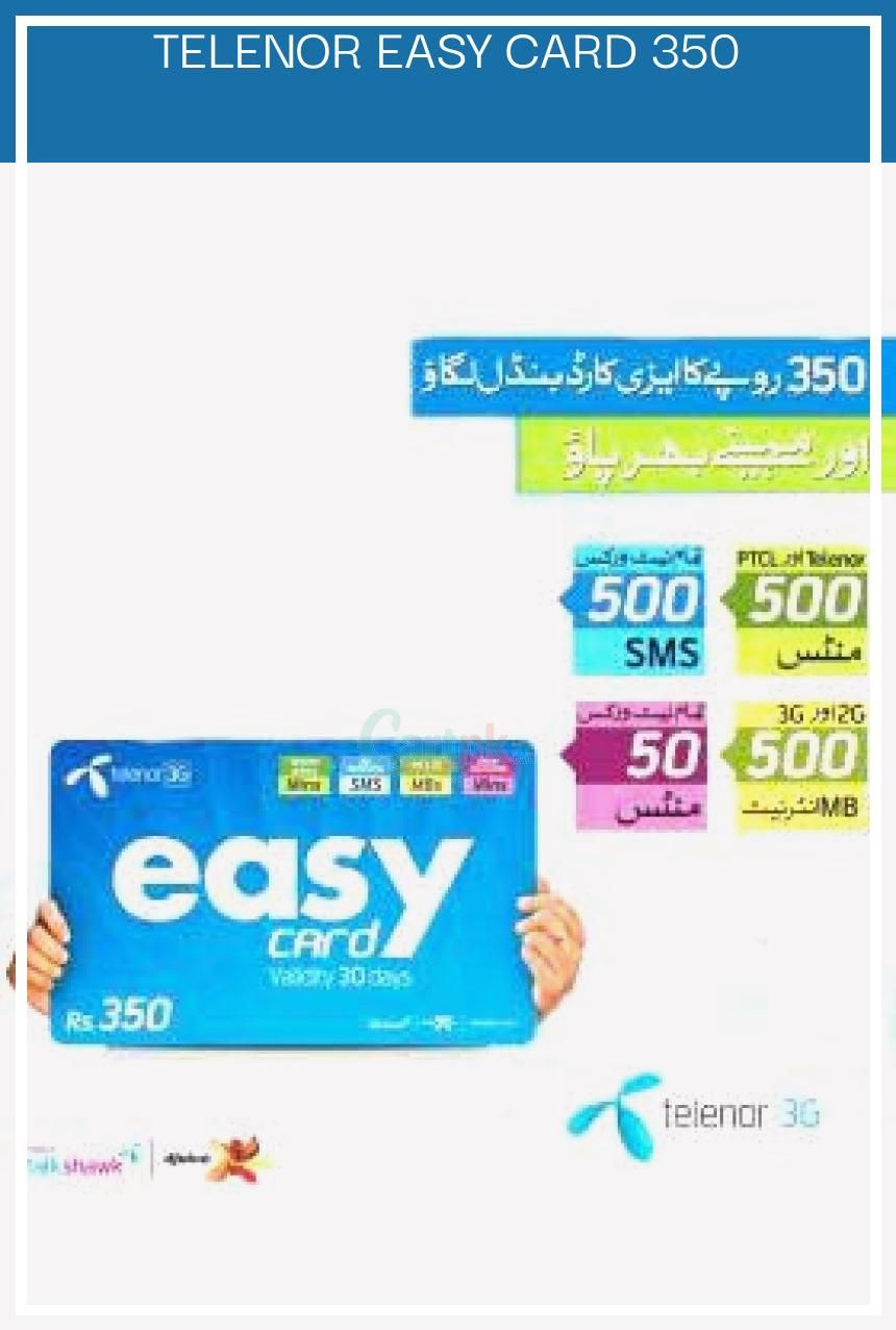 10 Primairet Telenor Easy Card 350 Simple Cards Closing Credit Cards Cards