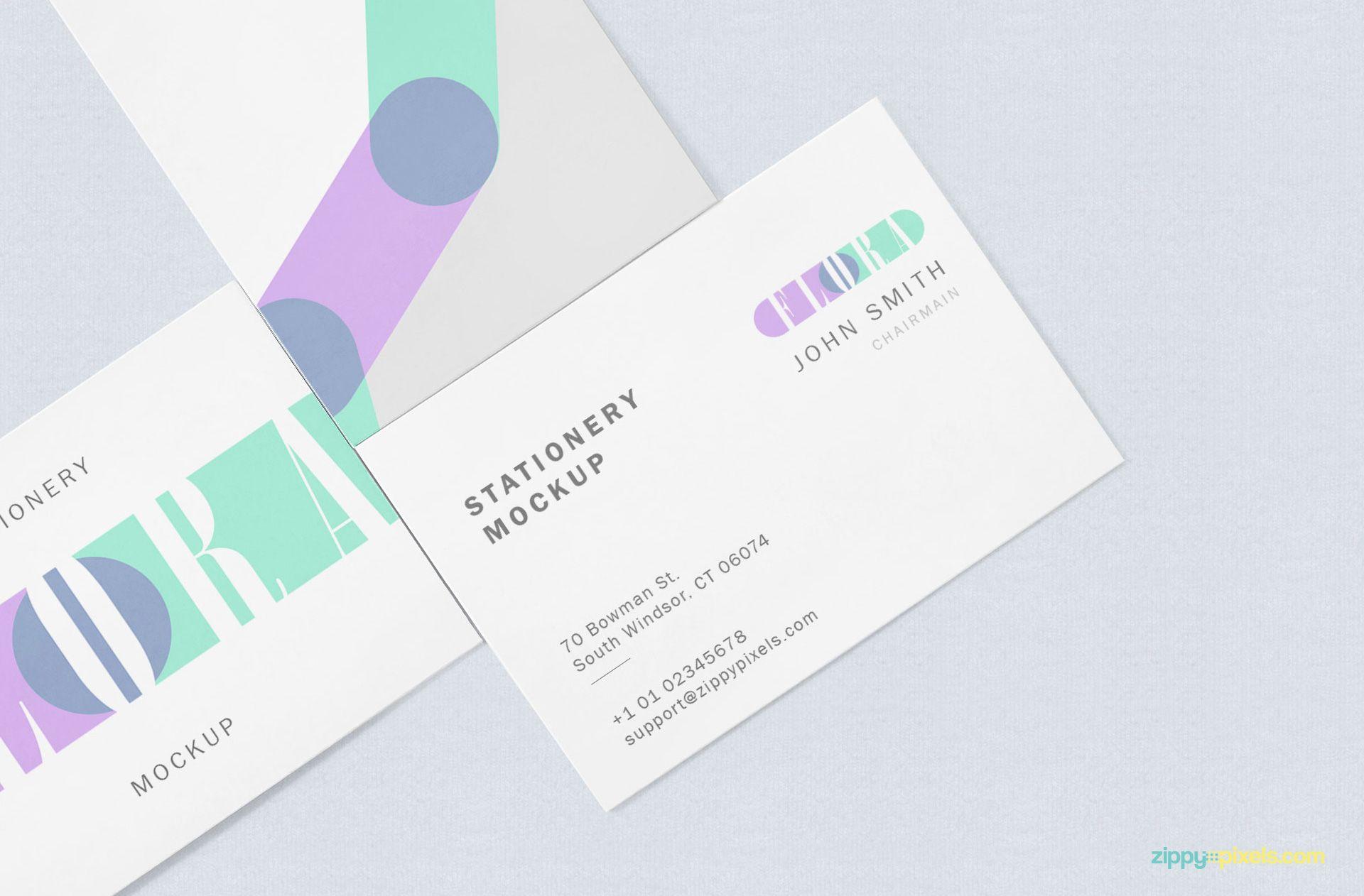 Free Business Card Mock Up Zippypixels Business Card Mock Up Free Business Cards Visiting Cards