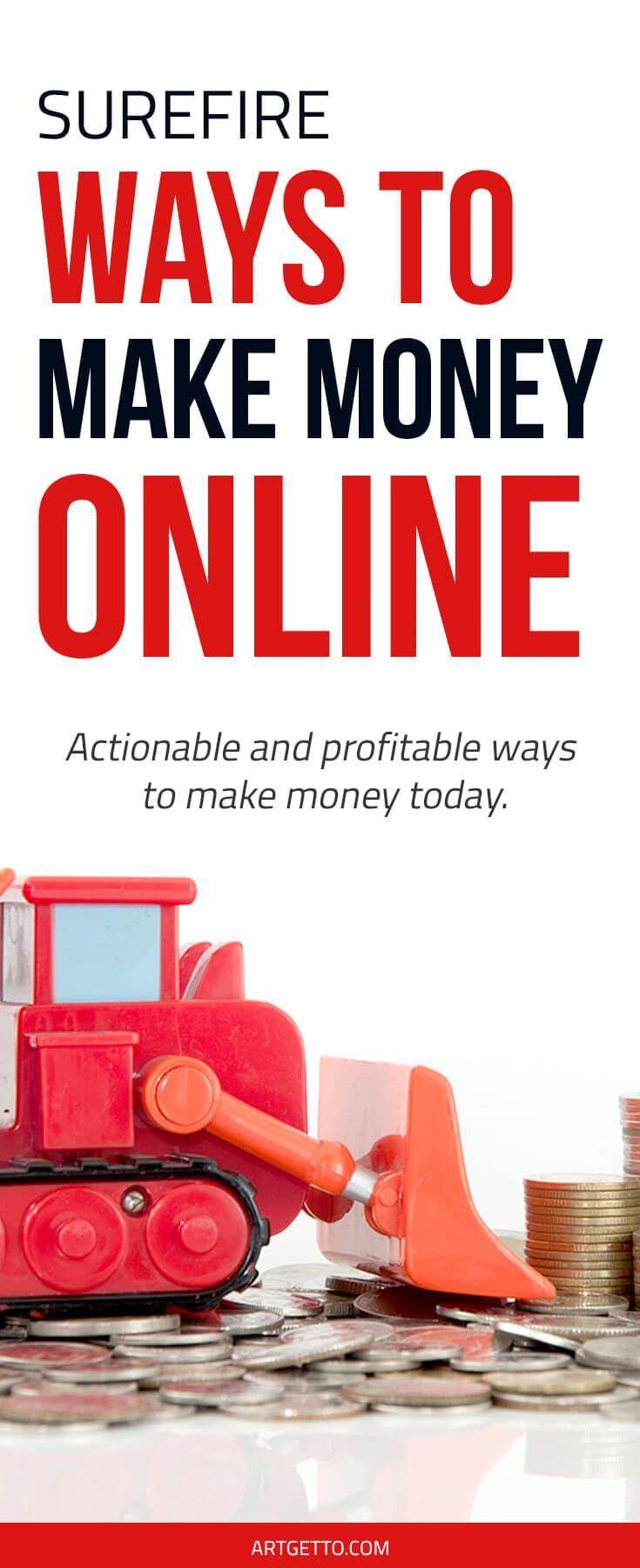 Surefire and Profitable Ways to Make Money Online   Extra money ...