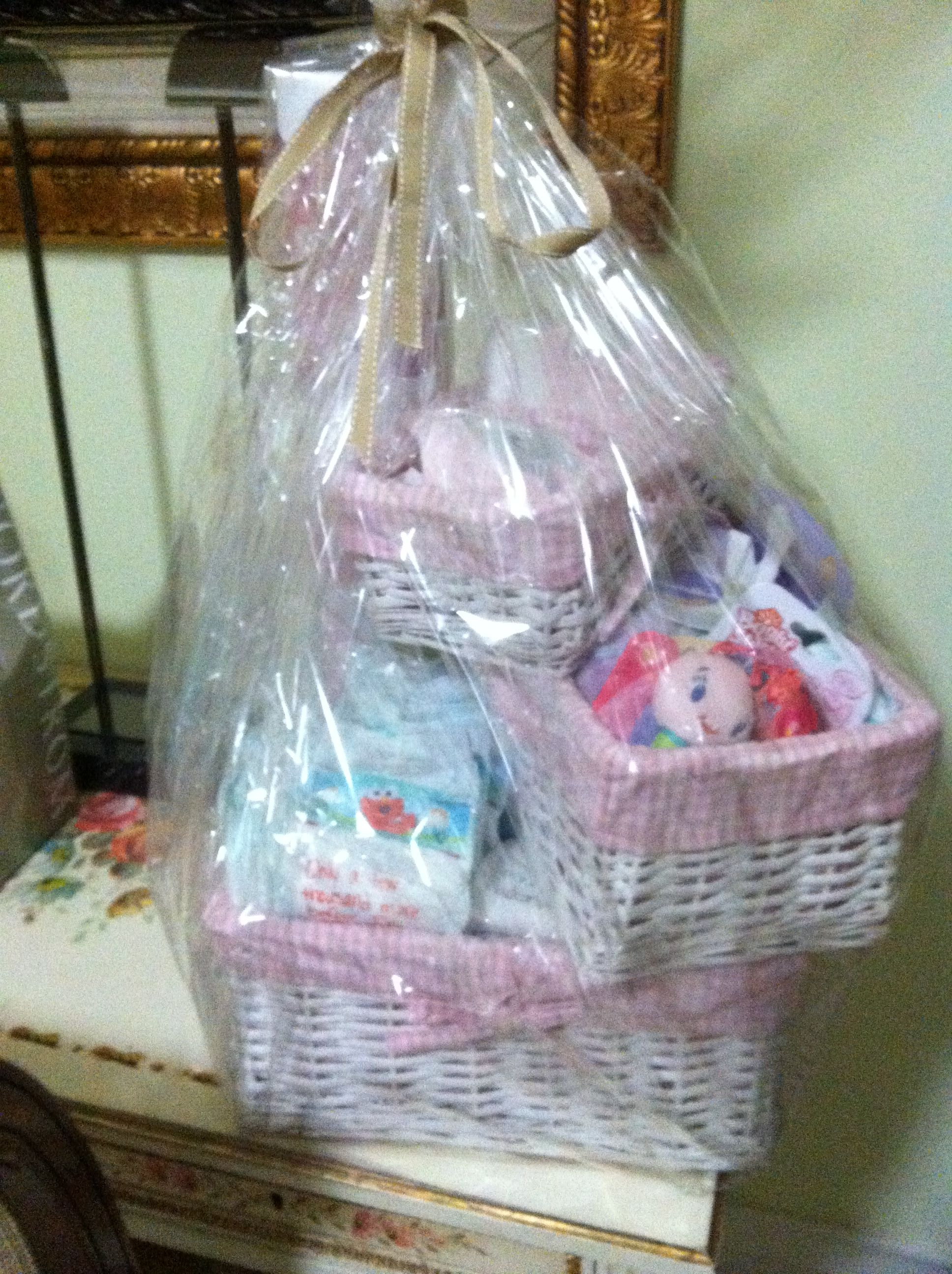 Baby shower gift: diapers, wipes, onesies, blanket ...