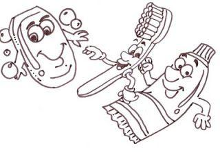 riscos e desenhos desenhos para colorir higiene urso pinterest