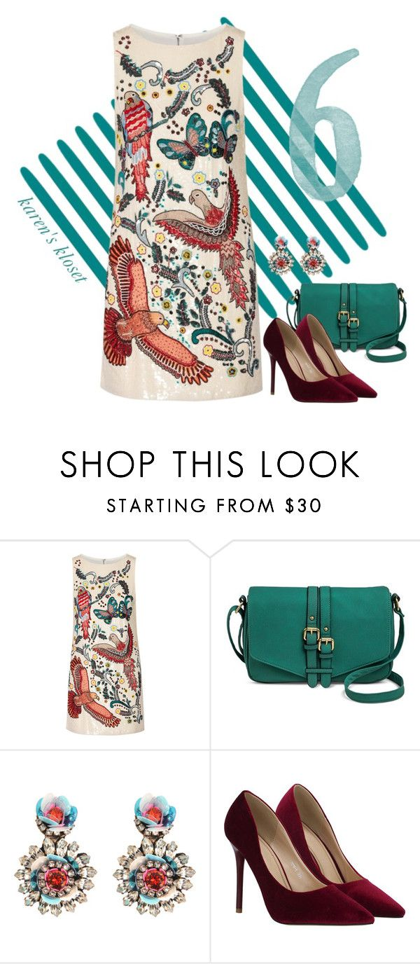"""'mini'"" by karenskloset ❤ liked on Polyvore featuring Alice + Olivia, Merona and Shourouk"