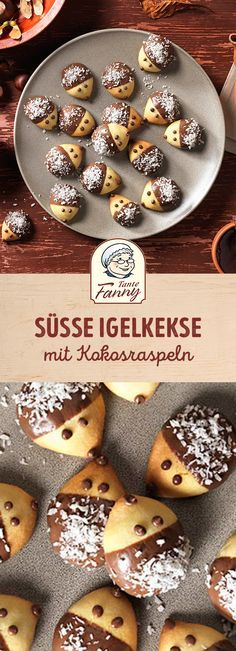 Süße Igelkekse mit Buttermürbteig - Rezept | Tante Fanny #kekseweihnachtenkinder