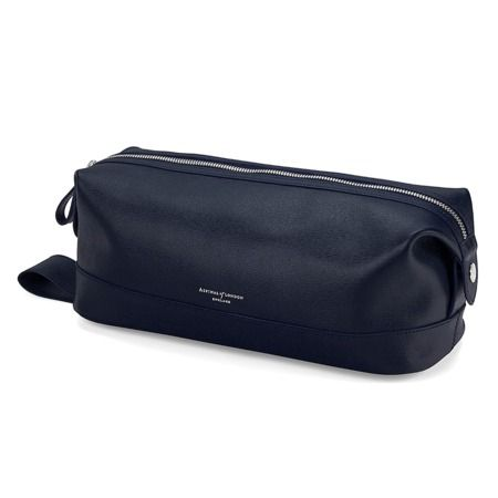 79bdca9df0 Men s Leather Wash Bag in Navy Saffiano from Aspinal of London