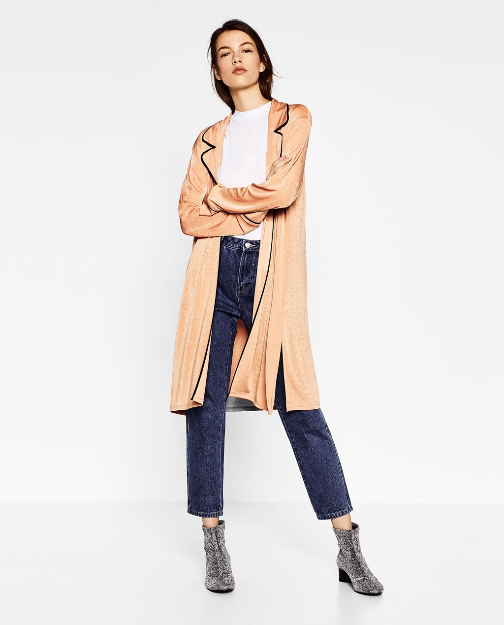055db666b90d4 PAJAMA-STYLE JACKET-View all-TOPS-WOMAN | ZARA United States ...