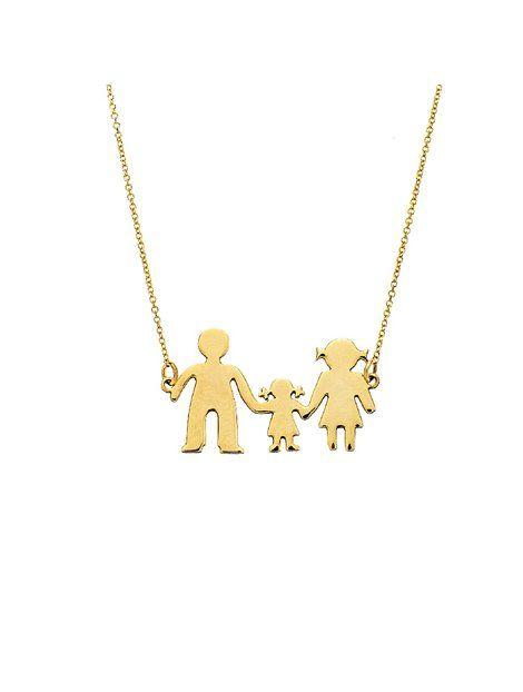 Κολιέ Οικογένεια Χρυσό 9Κ Αναφορά 018729 Ένα υπέροχο δώρο για τη μαμά από Χρυσό  9Κ το f8e52e7a5cc