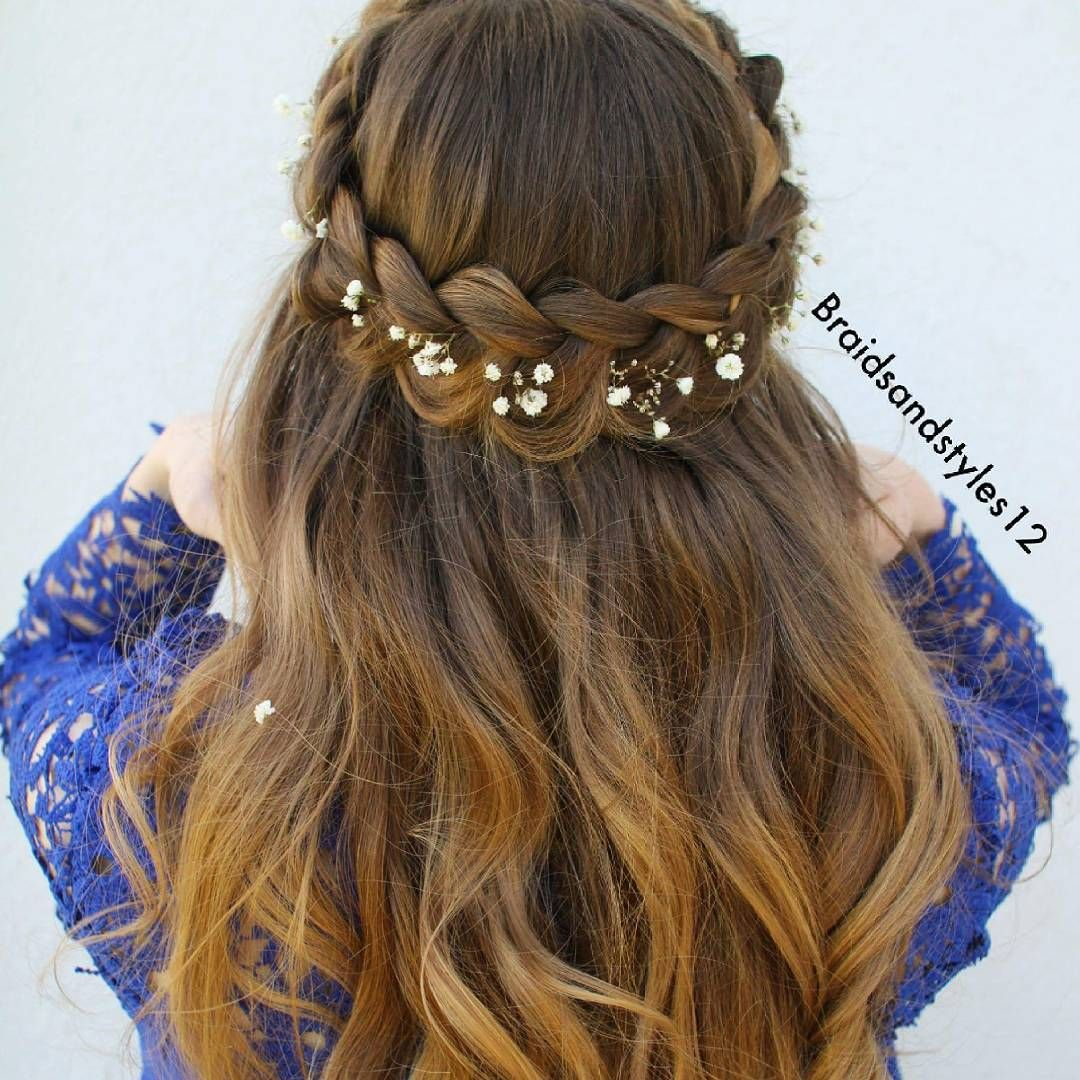 Tutorial Now Up On This Pretty Half Up Crown Braid You Can Watc