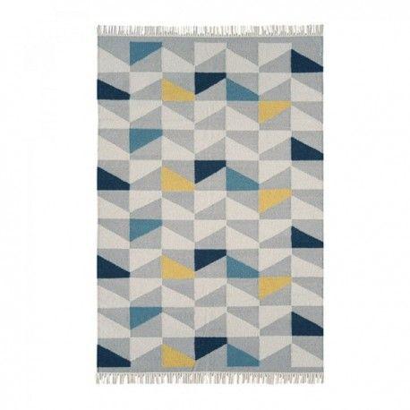 alfombra con estampado de figuras geométricas | Alfombra