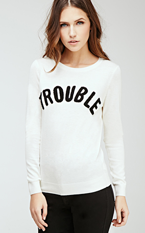 ccb6438245 Trouble sweater - Forever 21