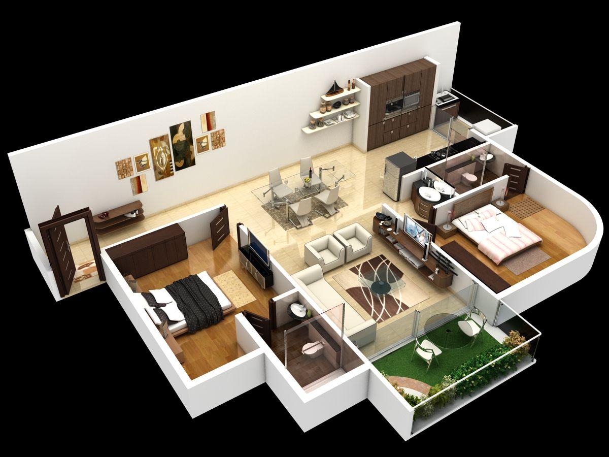Floor Plans 2bhk House Plan Small House Design Modern Small House Design