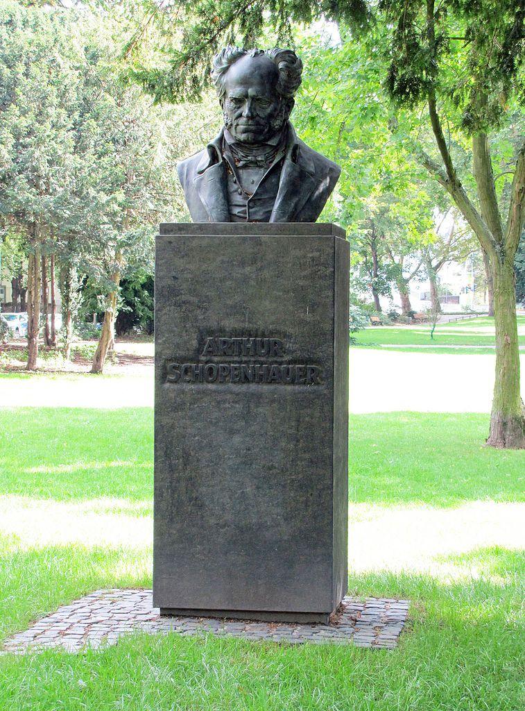 """Arthur Schopenhauer monument at """"Obermainanlage"""" in"""