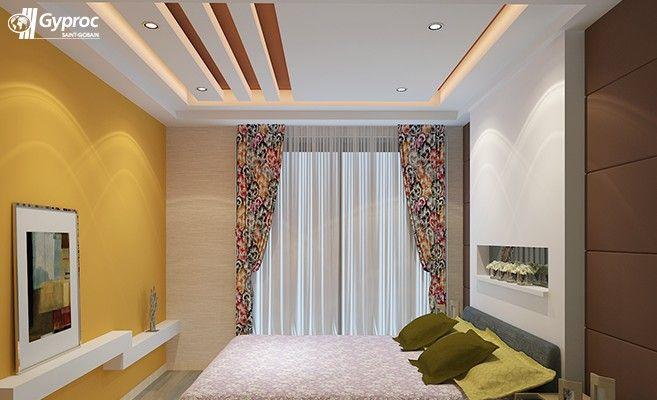 False ceiling designs for bedroom saint gobain gyproc - Bedroom pop ceiling design photos ...