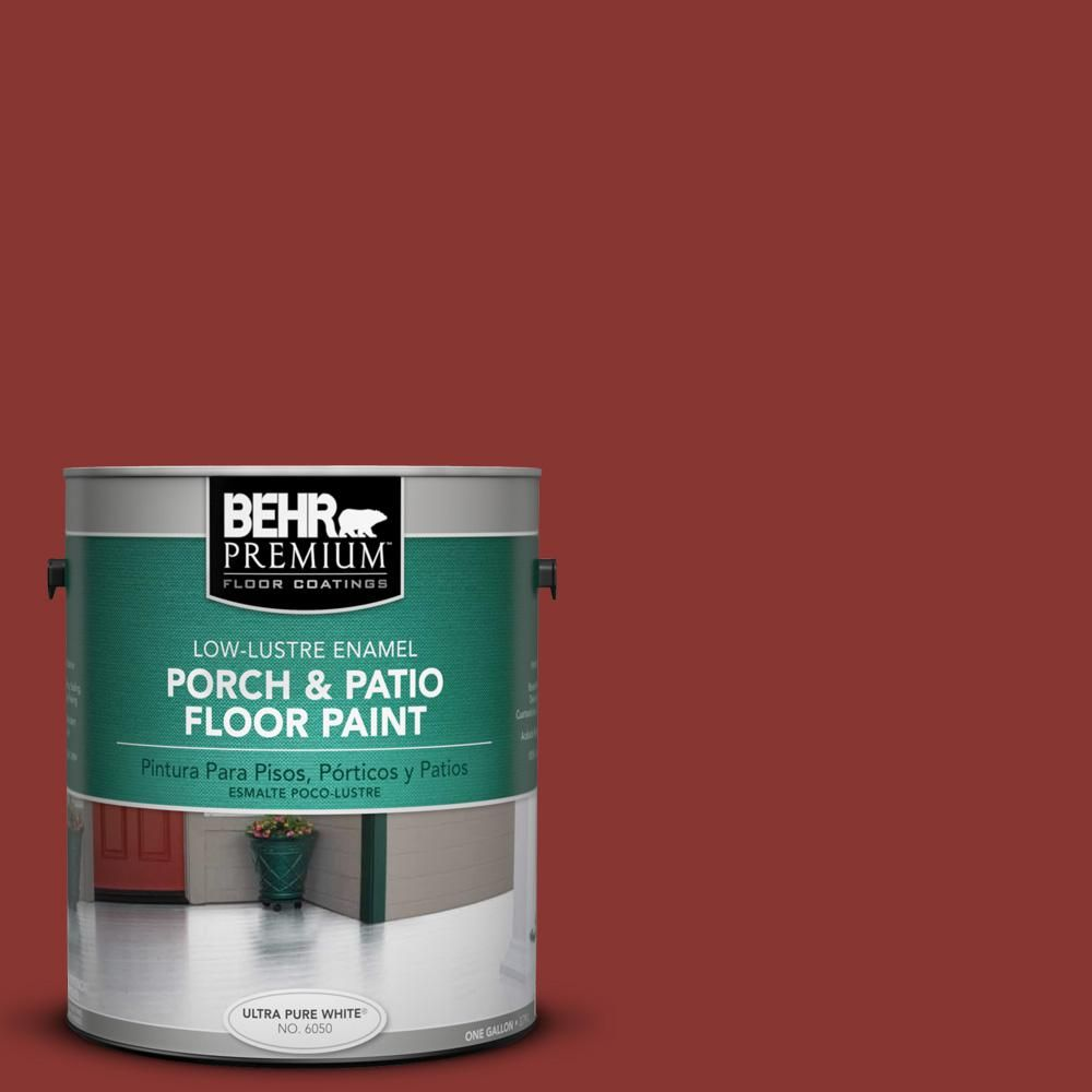 #ECC 46 3 Red Hawk Low Lustre Porch And Patio Floor Paint 630001   The Home  Depot