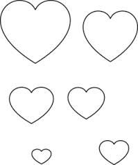 Heart Templates  Valentine Ideas    Heart Template