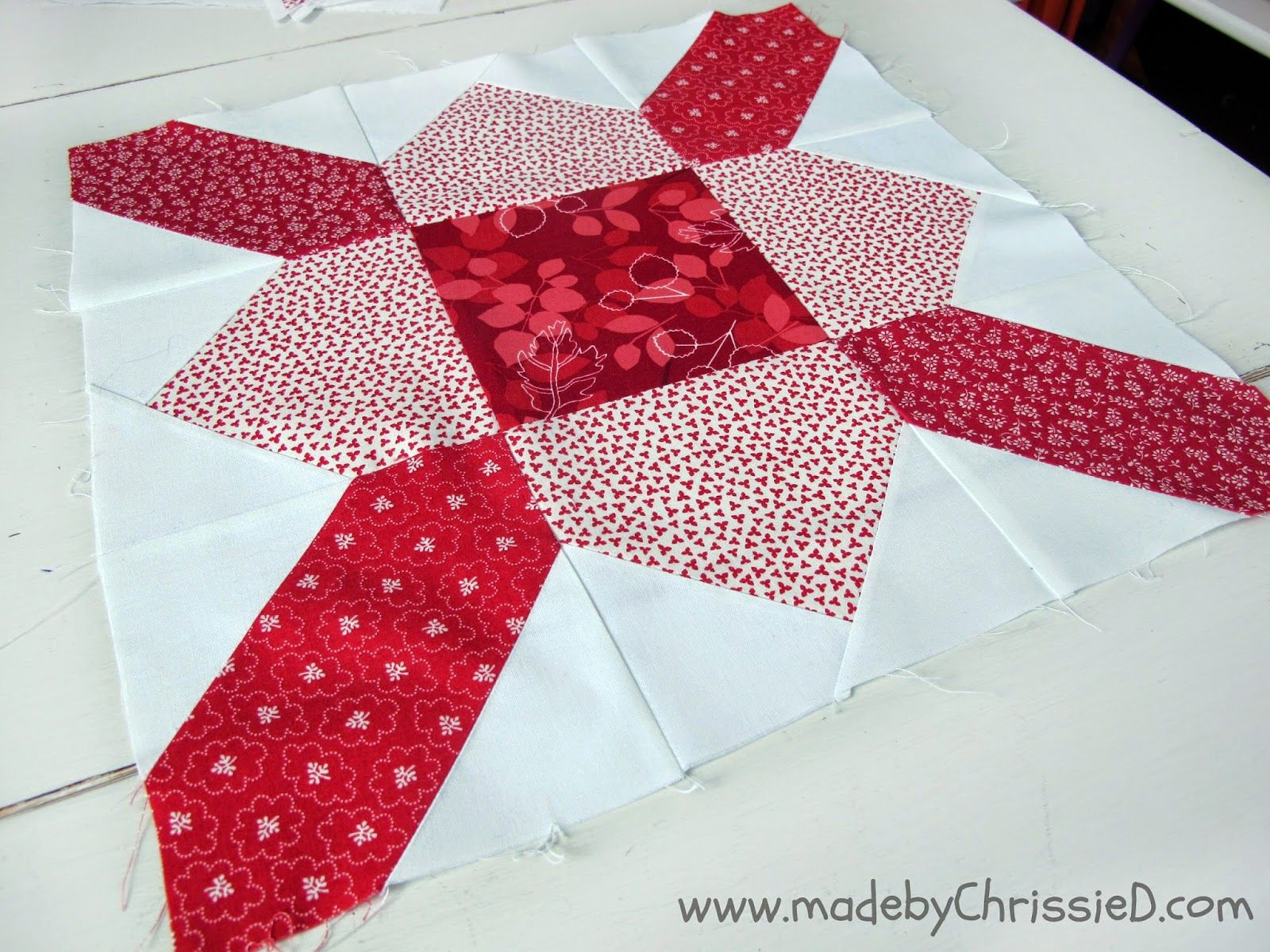 made by ChrissieD: Purse Strings January's Bee Block - NYC Metro MOD Quilt Guild