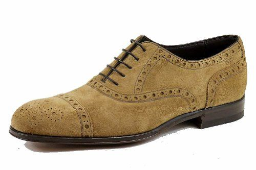 Hugo Boss Men's Caponio 50260413 Suede Fashion Oxford Shoes (11, Light/Pastel  Brown