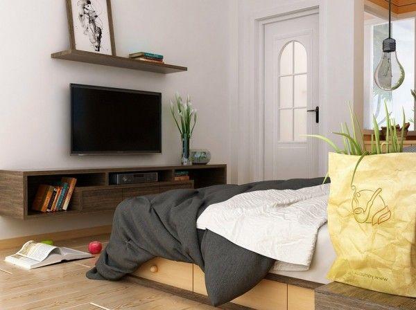 bedroom tv wall