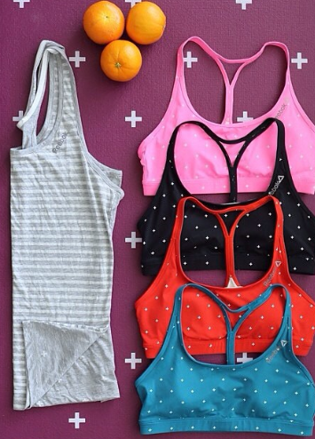 These colorful sports bras in a fun positive pattern can jazz up any gym outfit in seconds!
