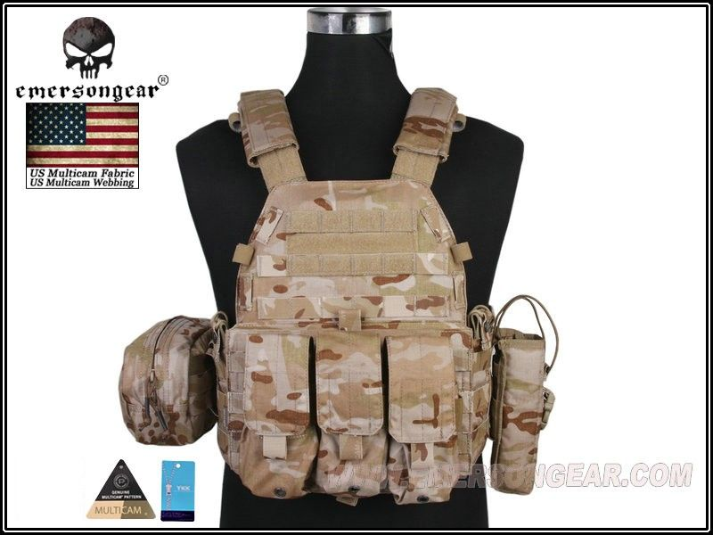 Emerson LBT6094A Plate Carrier With 3 Pouches(MCAD) #airsoft #365airsoft #airsoftvest