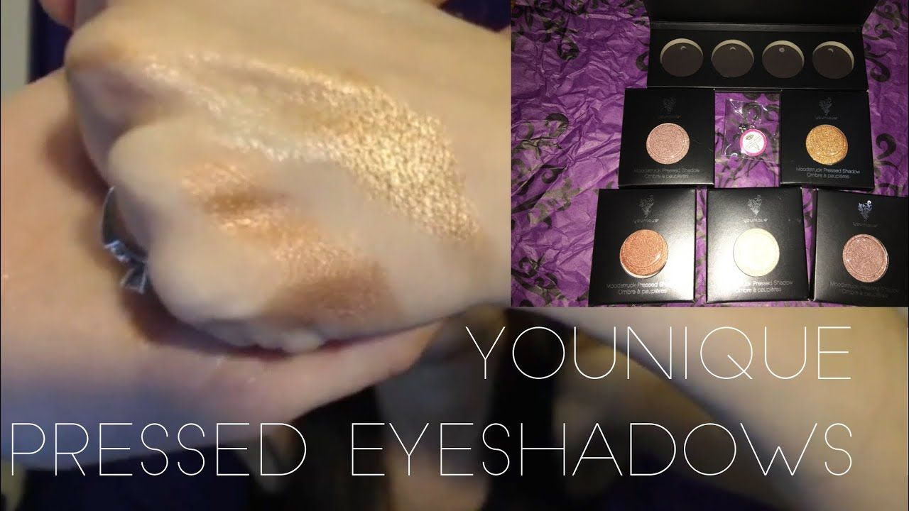NEW YOUNIQUE PRESSED SHADOWS SEPTEMBER 2017 | 4 COLOR SWATCHES #youniquepressedshadows