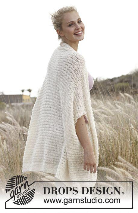 """Sweter bez rękawów DROPS włóczkami """"Alpaca Bouclé i """"Lace. Od S do ..."""