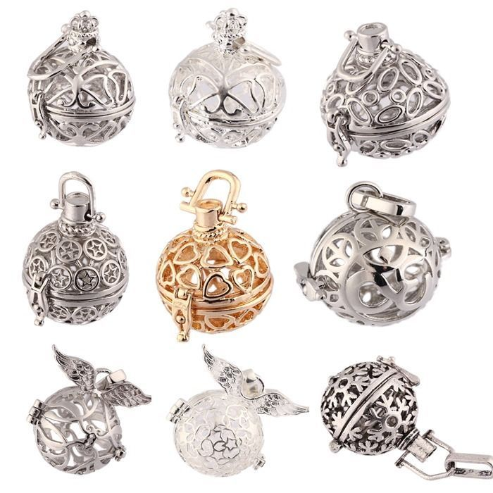 20mm Pad Ball Locket Pendant Fragrance Aromatherapy Oil Diffuser DIY Necklace #Unbranded #Pendant