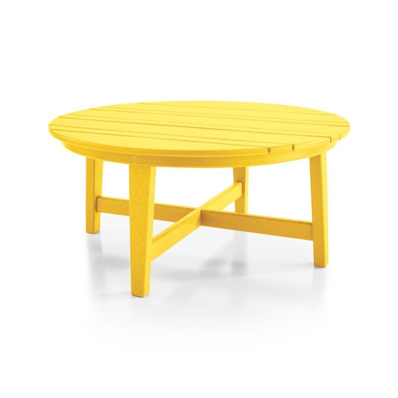Vista Ii Lemon Adirondack Coffee Table Coffee Table Crate