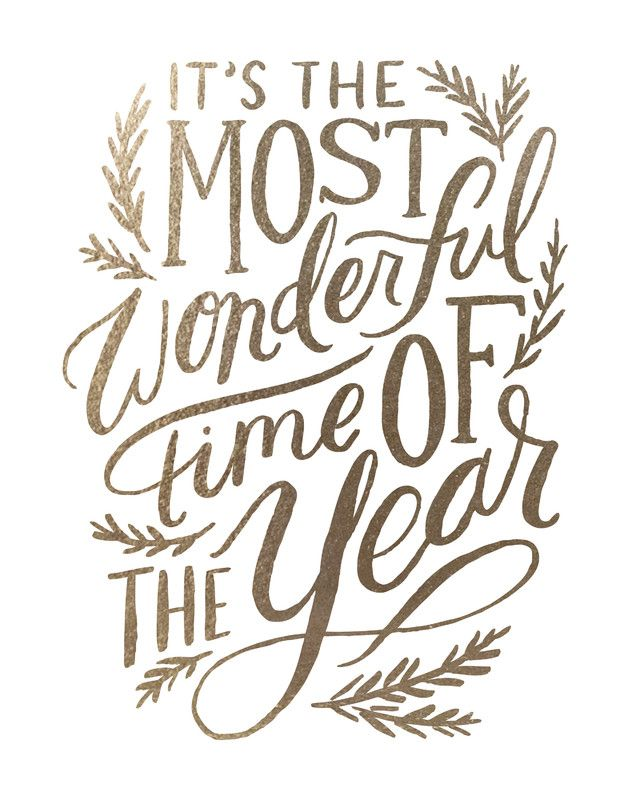 Its The Most Wonderful Time Of Year Quote Print Poster Word Art Picture