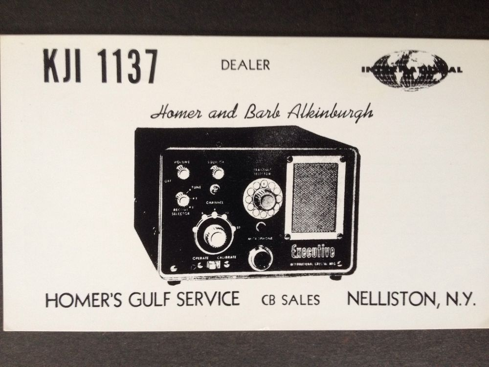 Vintage qsl cb radio card~kji 1137 nelliston, ny | Radio Stuff