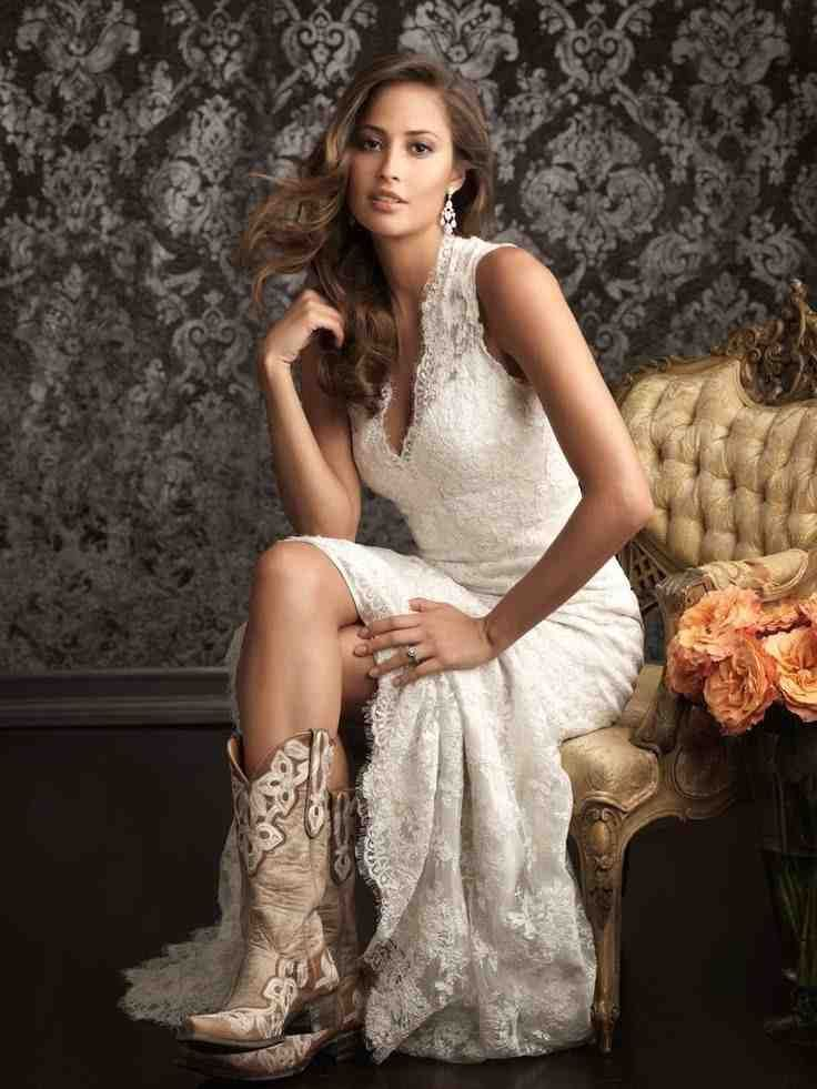 Western Wedding Dresses And Boots Lace Wedding Dress Vintage Allure Bridal Spanish Lace Wedding Dress