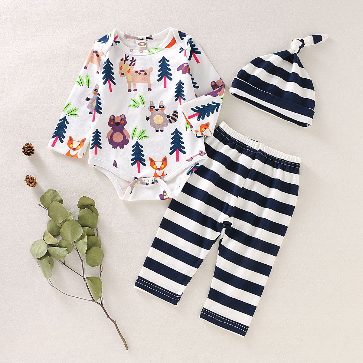 Summer Newborn Toddler Baby Girl Clothes Animal Print Romper Bodysuit Outfits
