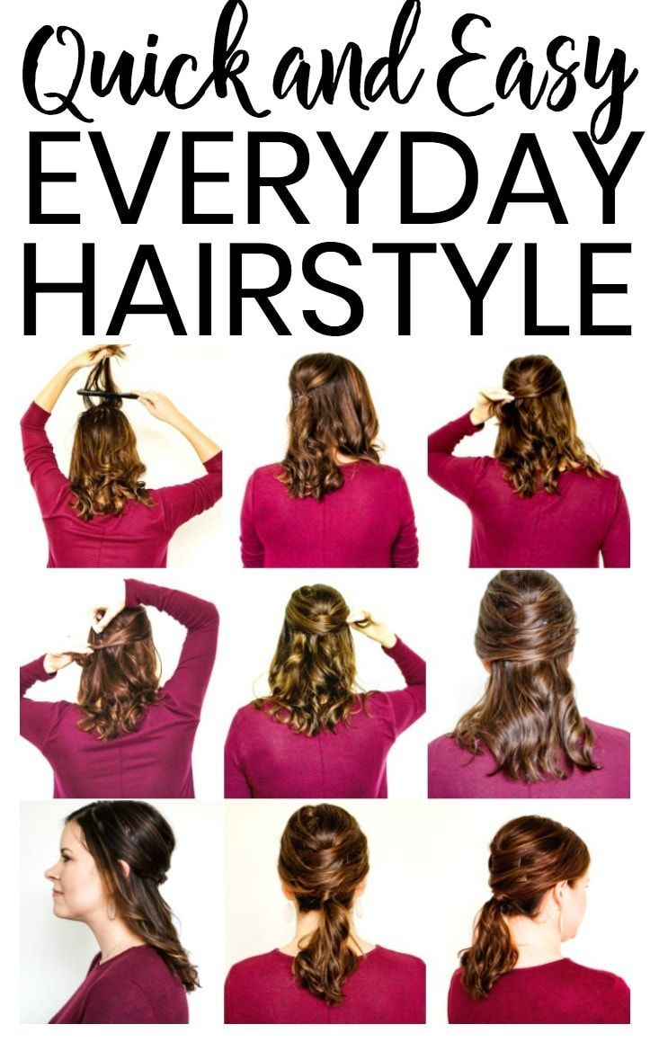 Quick Everyday Hairstyle for Fall   Easy everyday ...
