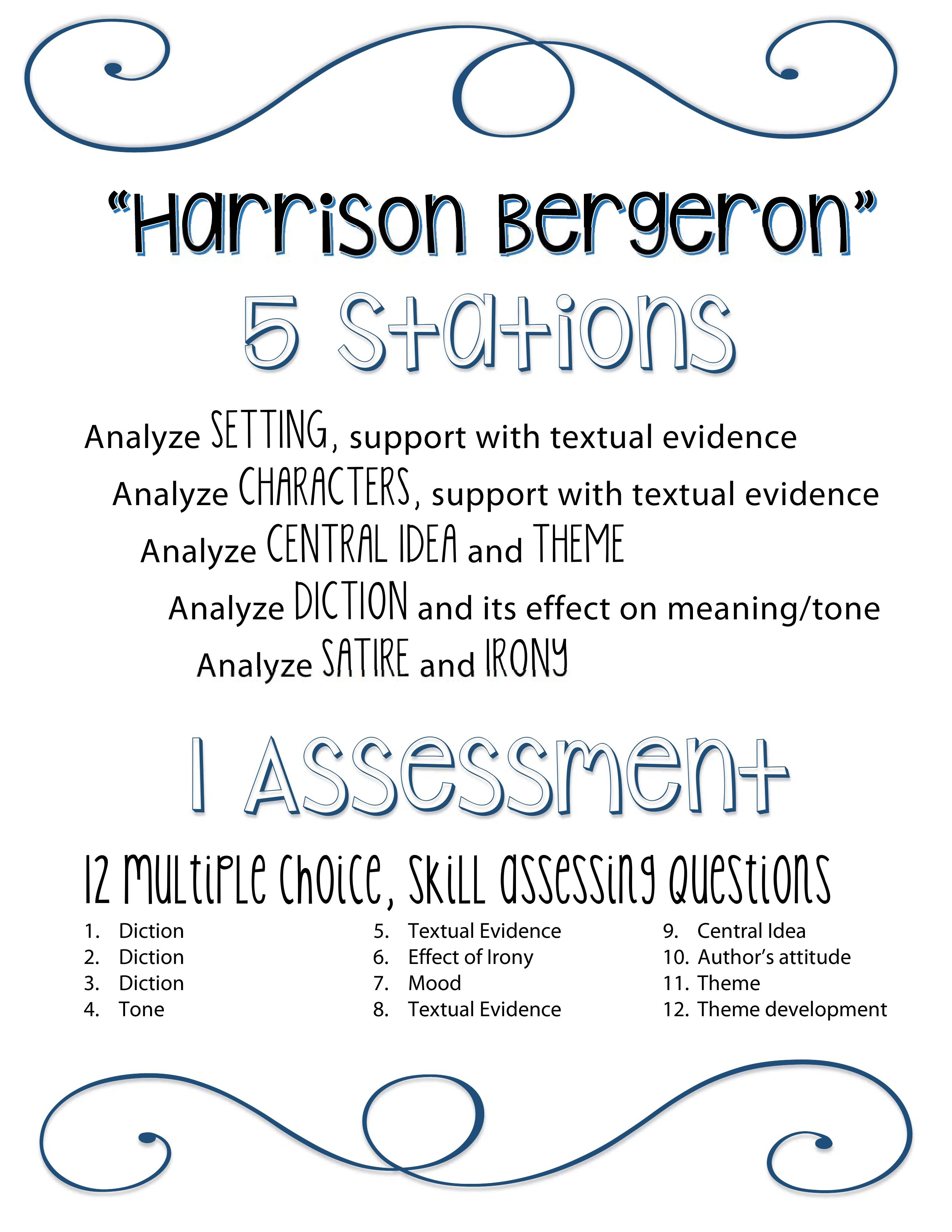 Harrison Bergeron 5ysis Stations And 1 Ccss