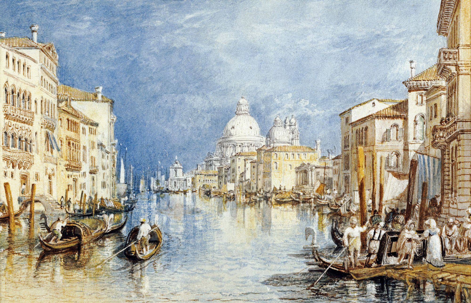 The Grand Canal Venice William Turner Turner Watercolors Art