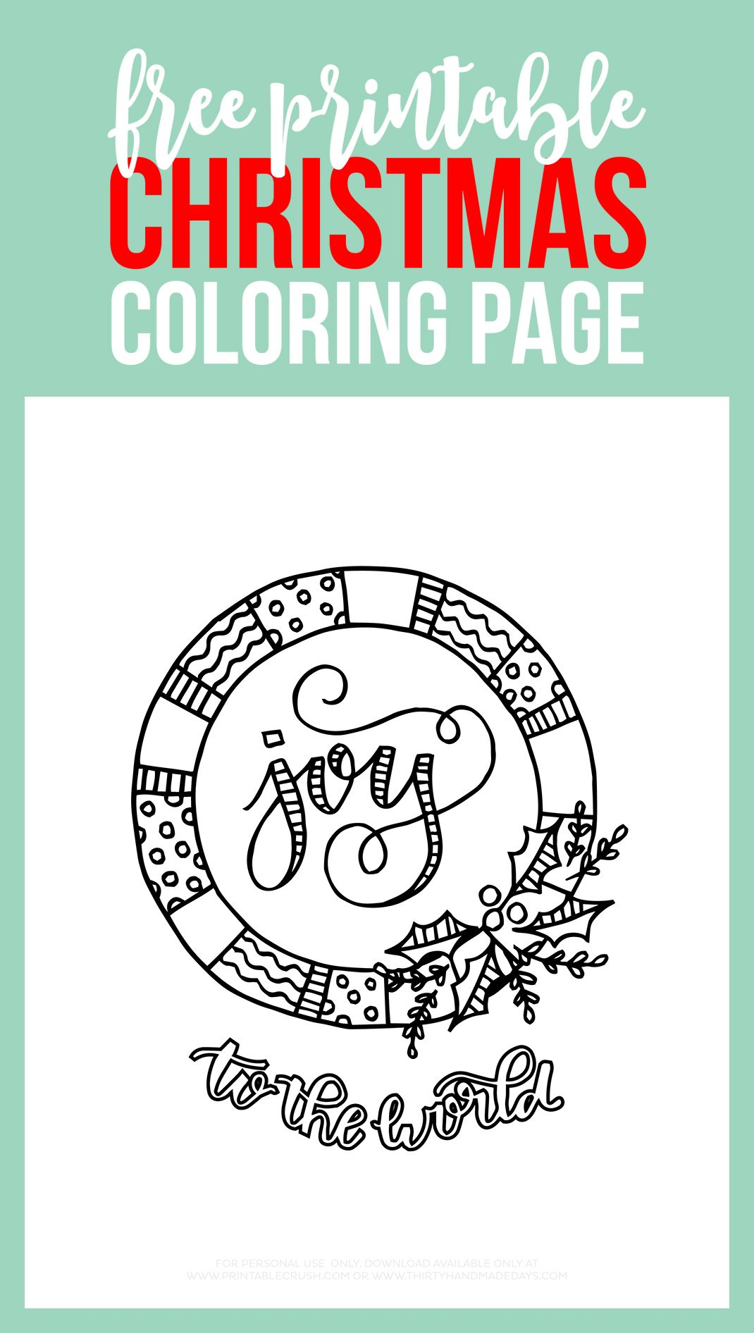 Print Off Some Of These FREE Printable Christmas Coloring Page For A Fun Activity Kids Or Adults This Holiday Season