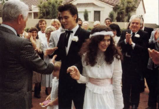 Johnny Depp S First Marriage Celebrity Wedding Photos Johnny Depp Celebrity Weddings