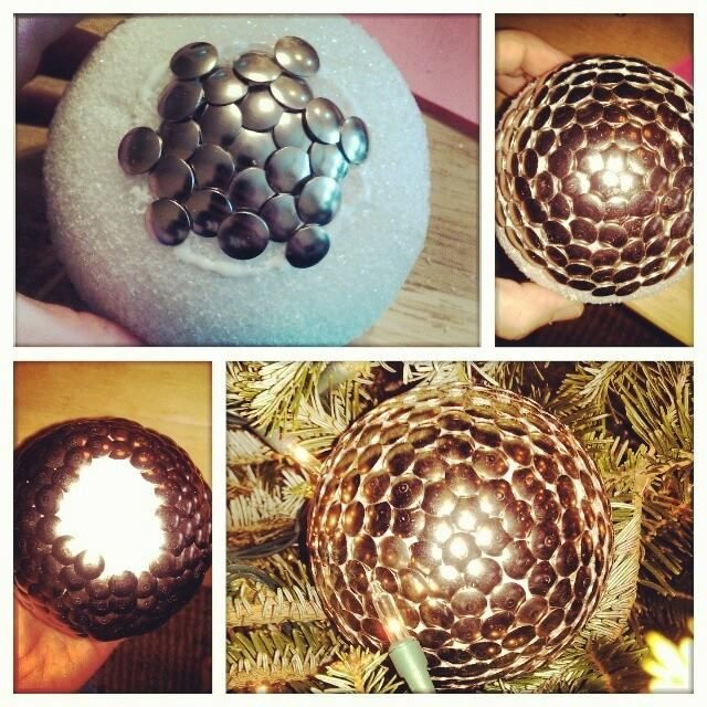 My DIY Thumbtack Ball Christmas Ornament i made! Easy! (med - dollar general christmas decorations