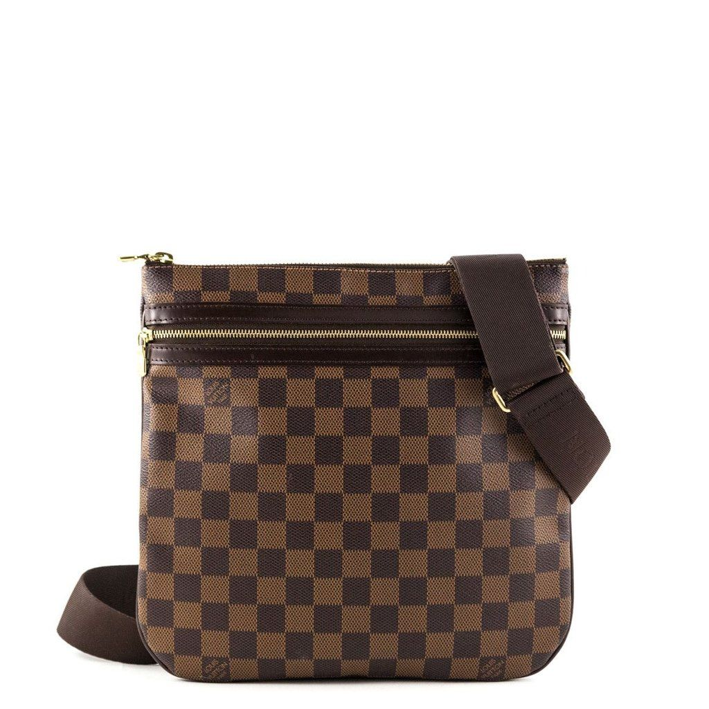 e605ba5b28 Louis Vuitton Damier Ebene Bosphore Pochette Messenger Bag -  1200 ...