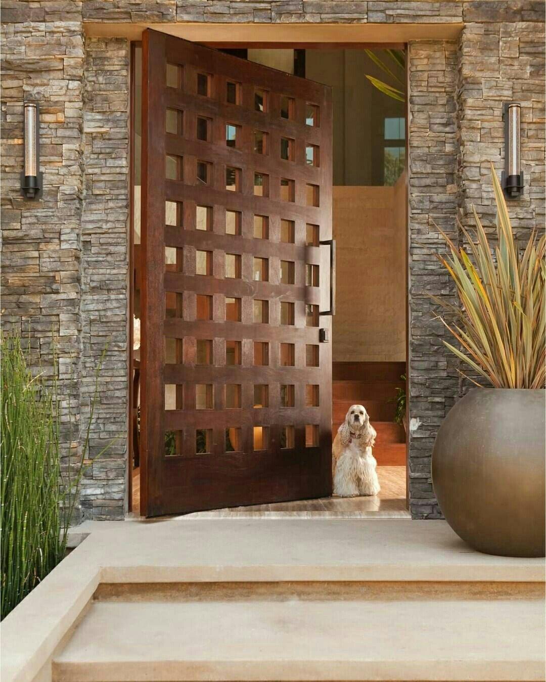Pin de r margarita c campos en 1 valle verde pinterest - Puertas para exteriores de casas ...