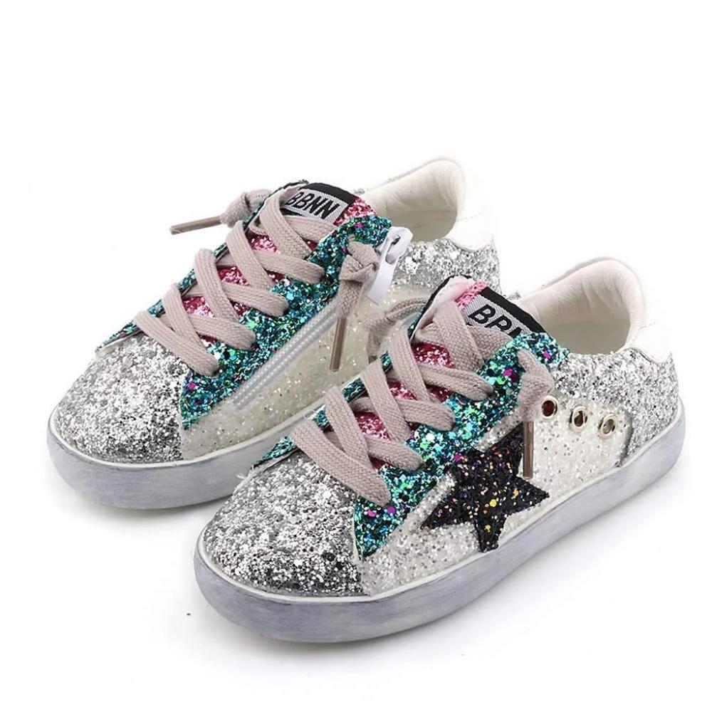 Star Girl Glitter Sneakers | Glitter