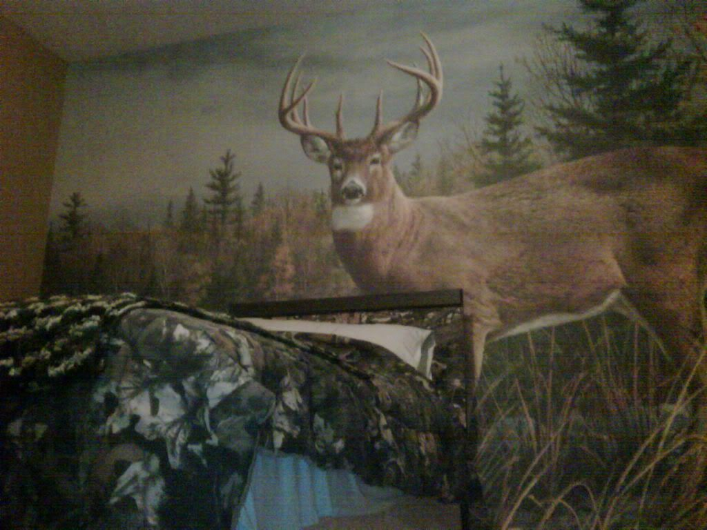 Camouflage wallpaper for walls roselawnlutheran for Deer wall mural