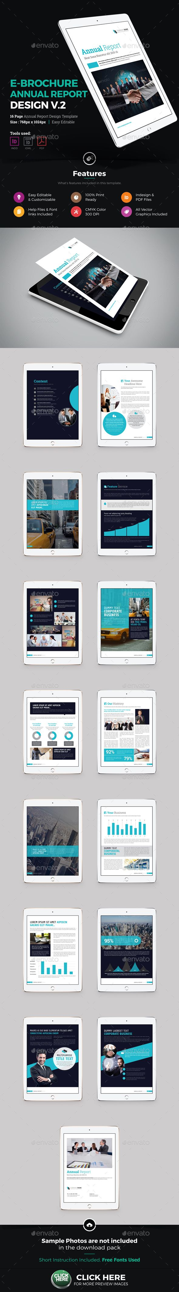 E-Brochure Annual Report Design Template InDesign INDD | e ...