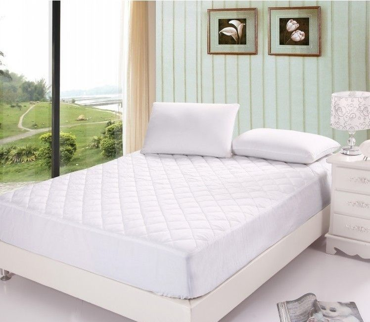 EXTRA DEEP T200 EGYPTIAN COTTN QUILTED MATTRESS PROTECTOR FITTED COVER All SIZES