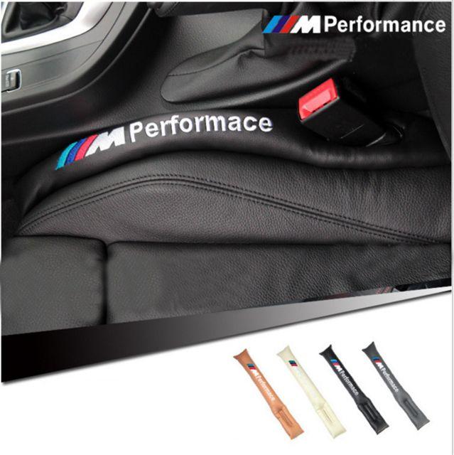 c30ff5c5f019 Black M Performance PU leather Car Seat Gap Fillers Prevent Sundries Into  Gap. Bmw E46 ...